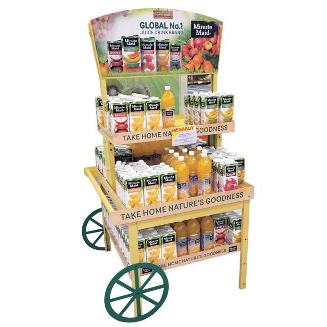 Minute Maid Cart Display