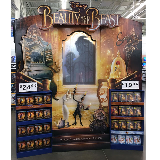 Beauty and the Beast Magical Floor Display
