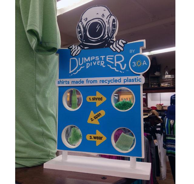 Dumpster Diver Recycles Plastic