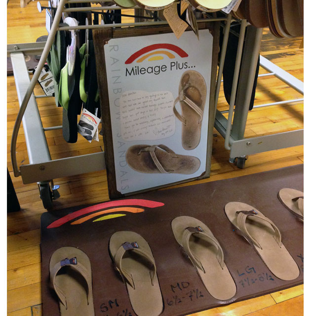 Rainbow Sandals Floor Display