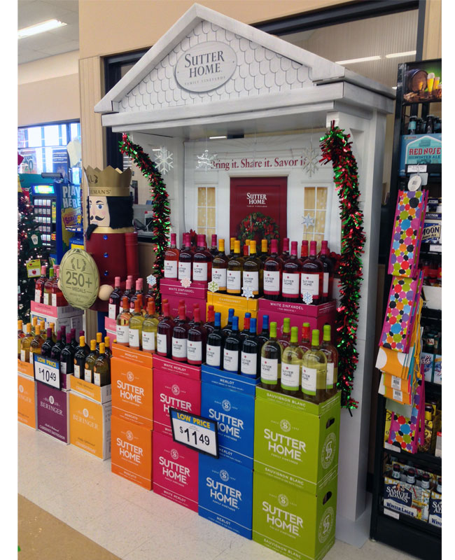 Sutter Home Share It Holiday Stacker Display