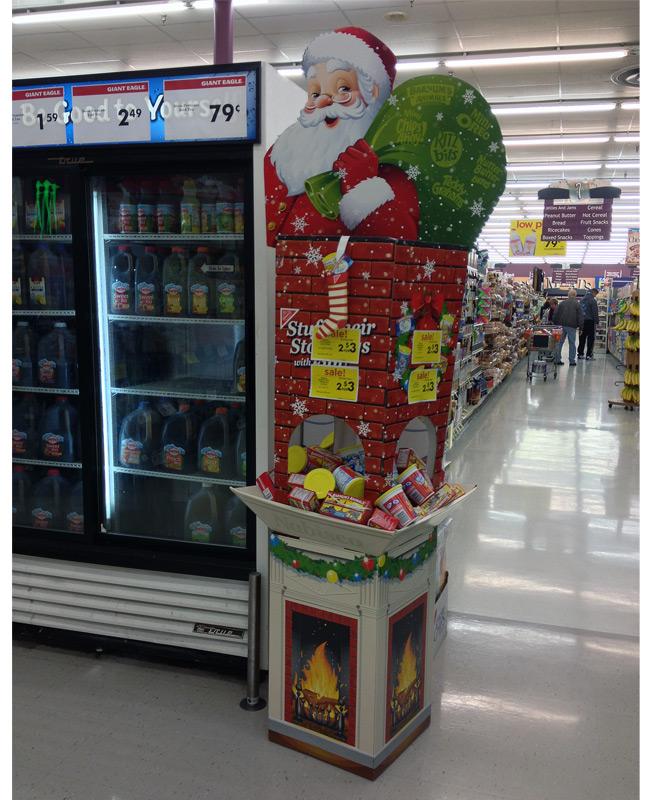Nabisco Stuff Their Stockings Holiday Dump Bin Display