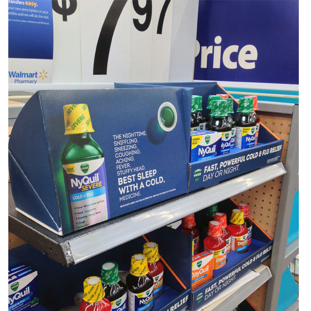 Vicks POP Shelf Display