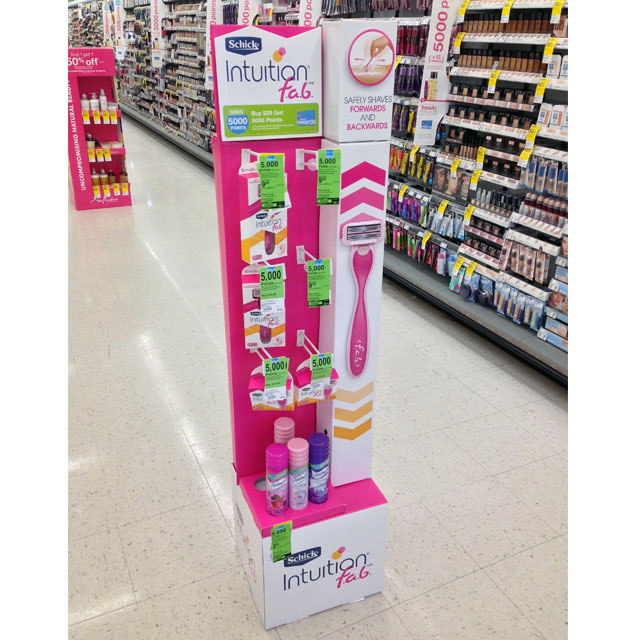 Schick Intuition F.a.b. Floor Display
