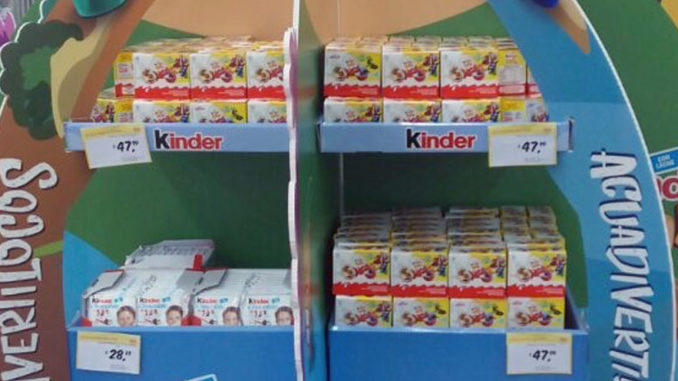 Kinder Joy Crazy Friends Island Display