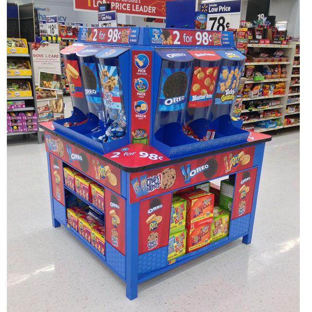 Pick Pack And Snack Floor Display
