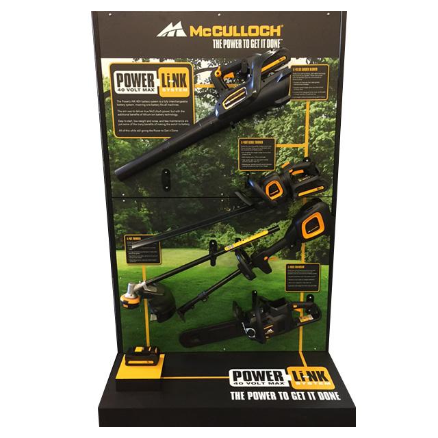 McCulloch Garden Tools Display