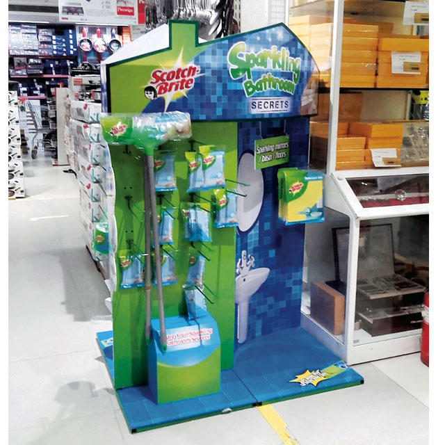 Scotch Brite Home Cleaning Floor Display