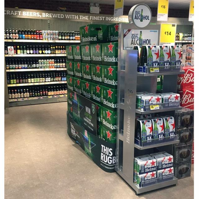 Heineken Alcohol Free Floor Display