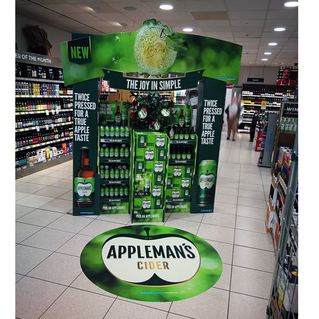 Appleman's Cider Stacker Display