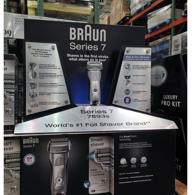 Braun Series 7 Demo Display