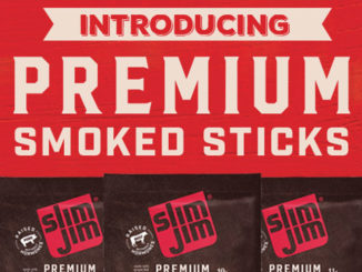 Slim Jim Premium Smoked Sticks Floor Display