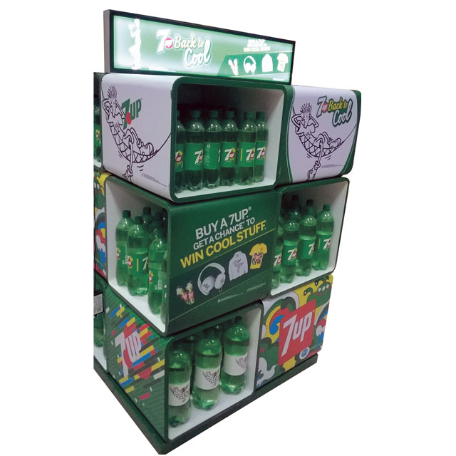 7up Cube Stacker Display