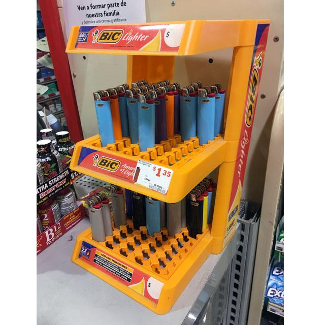 BIC Lighter Counter Display