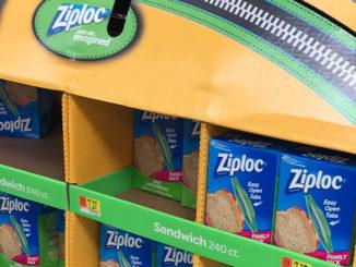 Ziploc Half Pallet Display