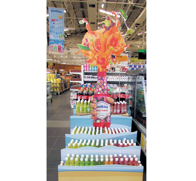 Sunkist Berry Punch Display