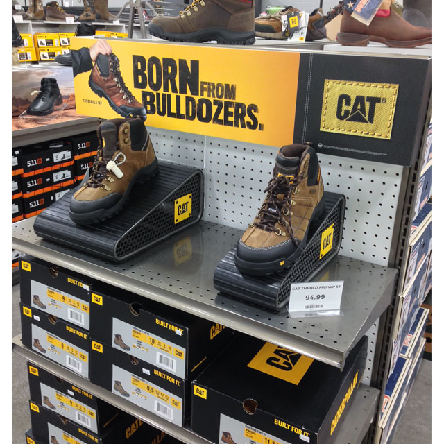 Cat Footwear End Cap Display