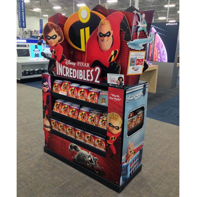 Incredibles 2 Best Buy Display