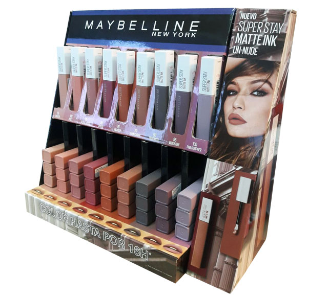 Maybelline Super Stay Shelf Display