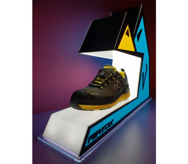 Airtox Safety Shoe Display