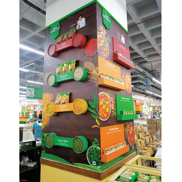 Tata Sampann Spice Display