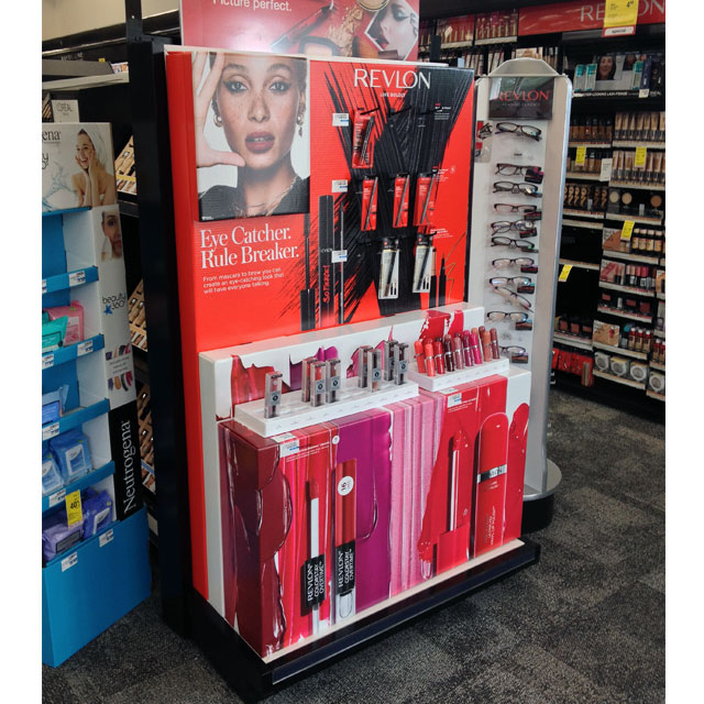 Revlon Lives Boldly End Cap Display