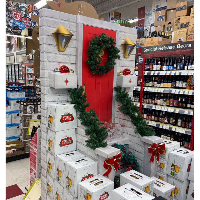 Stella Artois Christmas Display