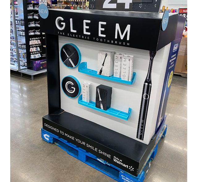Gleem Pallet Display