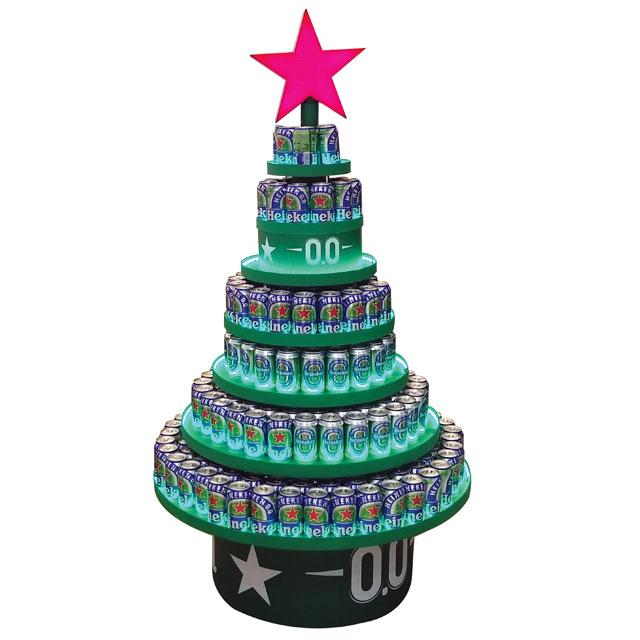 Heineken Holiday Tree Display