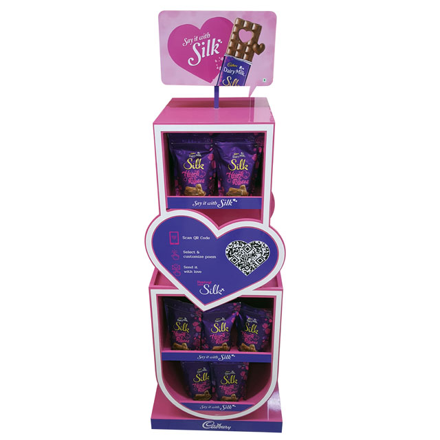 Cadbury Silk Floor Display