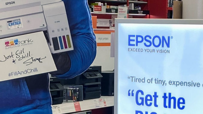 Epson Shaq End Cap Display