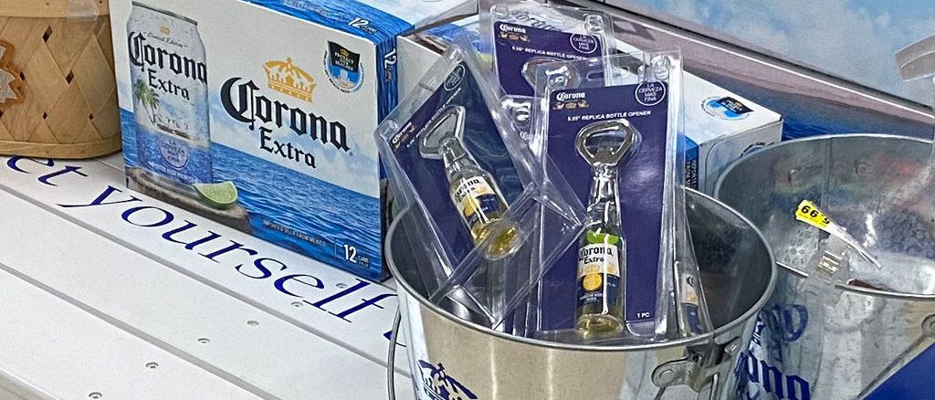 Corona Beer Bench Display