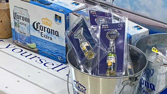 Corona Beer Bench Display
