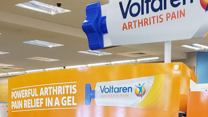 Voltaren End Cap Display