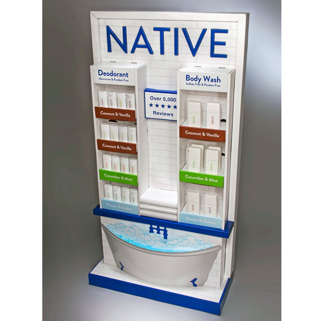 Native End Cap Display