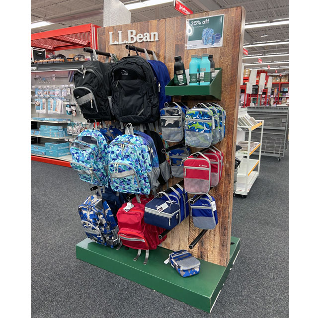 L.L. Bean Staples Display