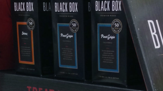 Black Box Wine Coffin Display