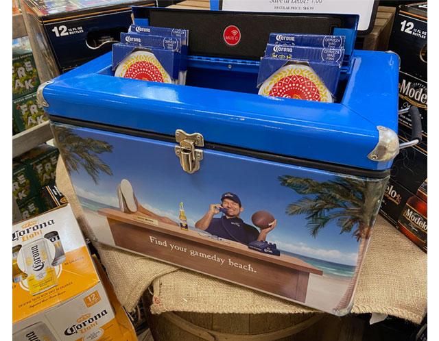 Corona Cooler Display