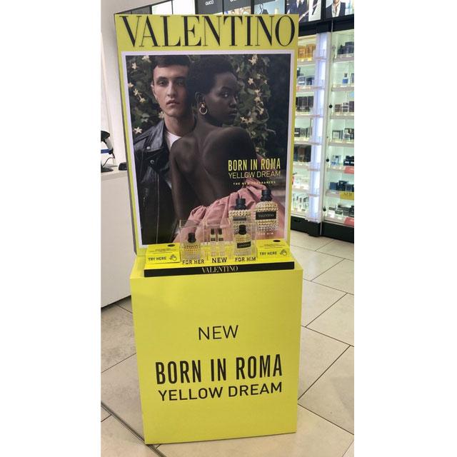 Valentino Fragrance Display
