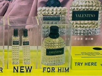 Valentino Fragrance Display